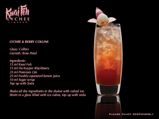 17 best images about kwai feh lychee liqueur on pinterest for Cocktail litchi