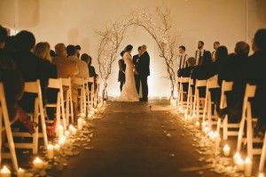 Manzanita Wedding Candle Aisle - Weddings on a budget with cheap wedding ideas, cheap wedding dresses and cheap bridesmaids dresses