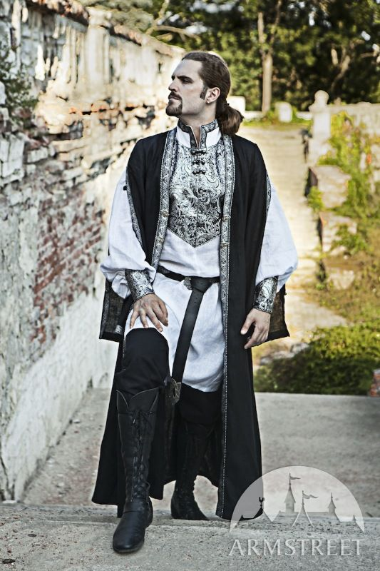 Eastern Europe Linen Overcoat Costume