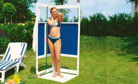 Mobile Gartendusche bauen - Mit unserer Do-it-yourself-Duschkabine zum Zusammenklappen kein Problem!