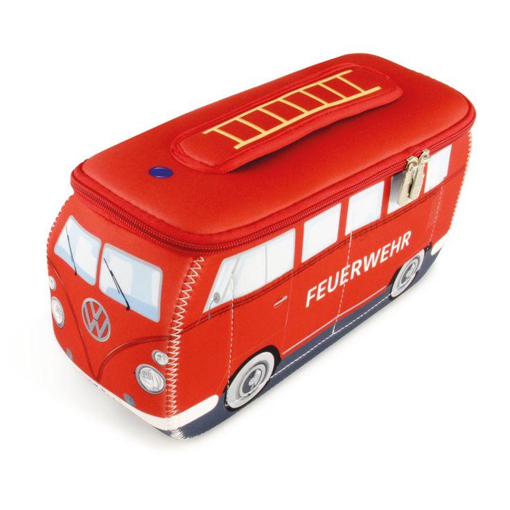 Campervan Gift Ltd - VW Fire Engine Campervan Universal Neoprene Wash Bag, (https://www.campervangift.co.uk/vw-fire-engine-campervan-universal-neoprene-wash-bag/)