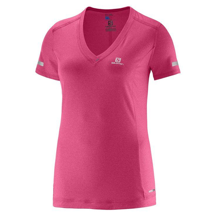 Salomon Park Tee - Laufshirts für Damen - Pink