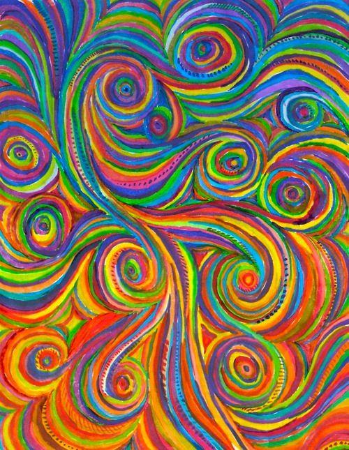 I Love These Multi Coloured Swirls