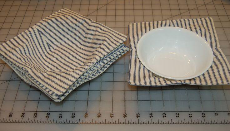 Microwave bowl caddy set; 100% cotton fabric, batting, thread; 12.21.16