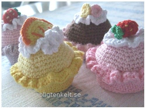 Skapligt Enkelt: Virkad cupcake - grundmönster ♥ Gratis mönster ♥