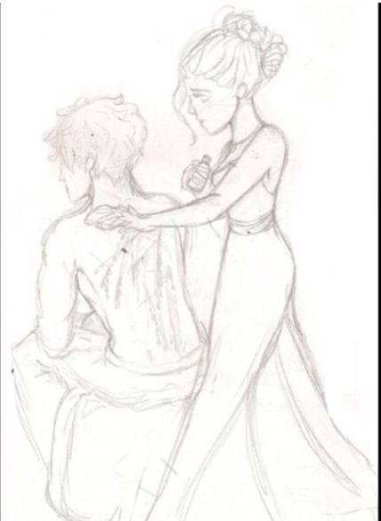 Maxon and America I loved this part then I wanted to cry because Maxon was beaten