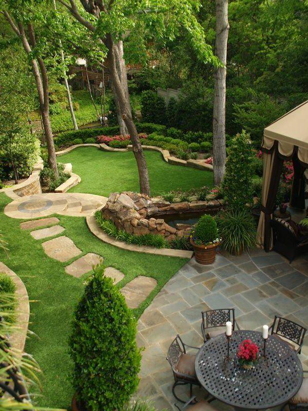 vert jardin avec gravier allee de jardin caillou blanc. Black Bedroom Furniture Sets. Home Design Ideas
