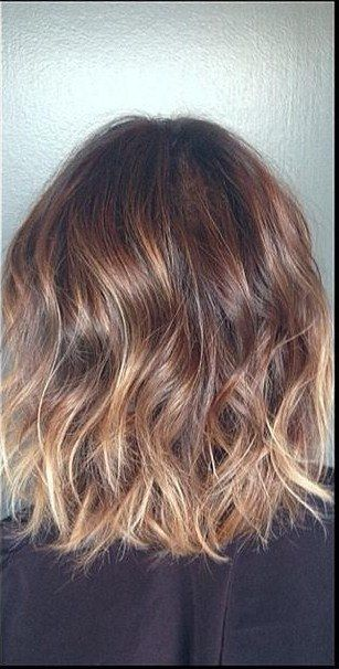 Subtle brunette ombre and highlights. Def going to get this next time since I have short hair now!