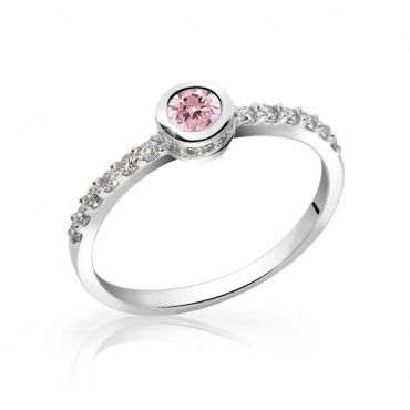 Engagement ring with Pink Sapphire and Diamonds 0.83 ct  http://www.brilianty.cz/zlaty-damsky-prsten-df-2803-z-bileho-zlata-ruzovy-safir-s-diamanty-16024/