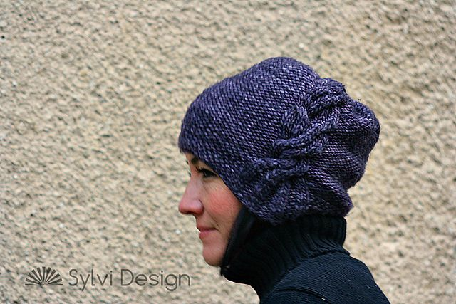 Alessa Hat by Sylvi Design. malabrigo Mecha. Paris Night colorway.