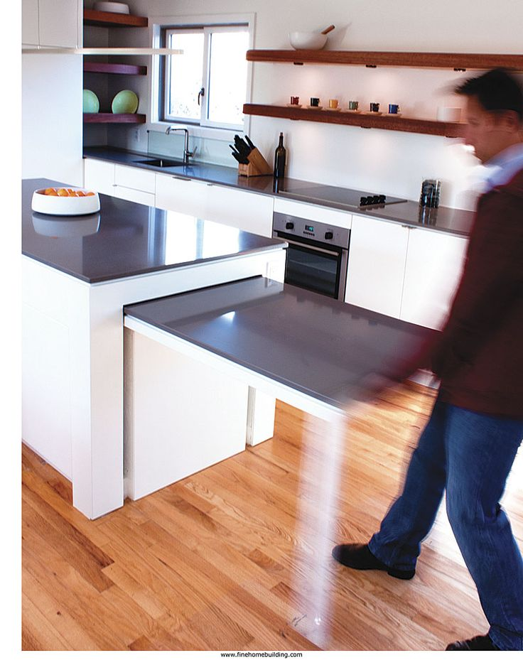 Great Ideas: Hideaway Kitchen Table Ingenious solutions to common design problems