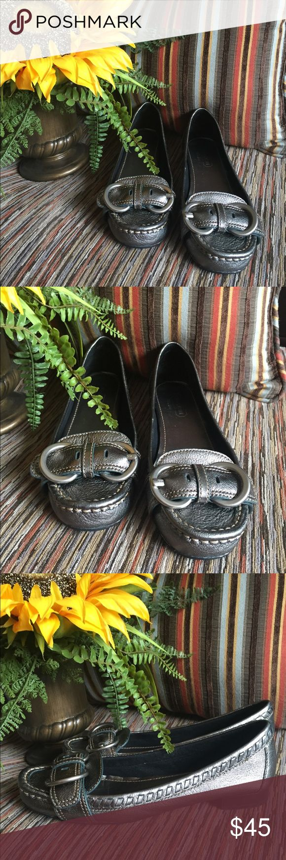 Coach Flats Gunmetal Coach Flats with Buckle on toe.  I think these were only worn once. EUC Coach Shoes Flats & Loafers
