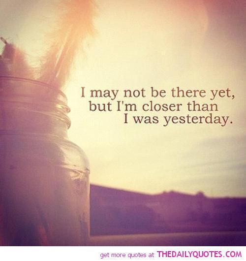 And I'll be even closer tomorrow. Not to my demise, silly, but to that golden age of Feeling Good. Believe in it, and I'll help you get there. <3