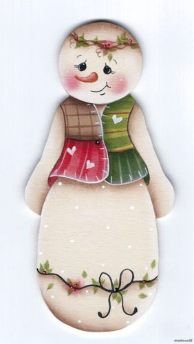 SNOWMAN - Based on a Jamie Mills-Price design... handpainted by Pamela House