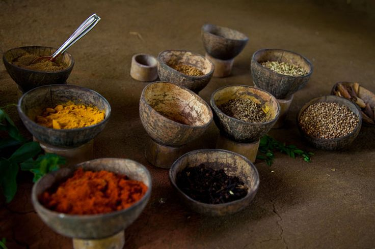 Freshly ground spices, from chilli to turmeric, line up to add flair to a dish of rice and curry. Image by phgaillard2001 / CC BY-SA 2.0.