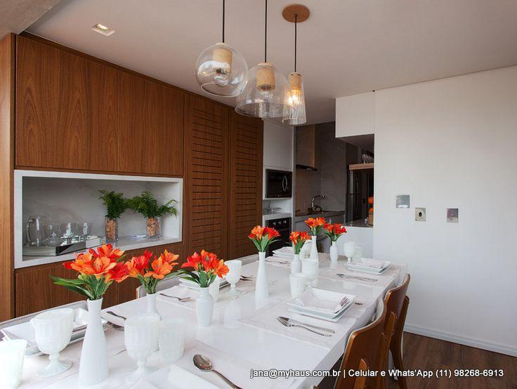 #flores #mesa #saladejantar #decoração #lustre   jana@myhaus.com.br   Celular e…