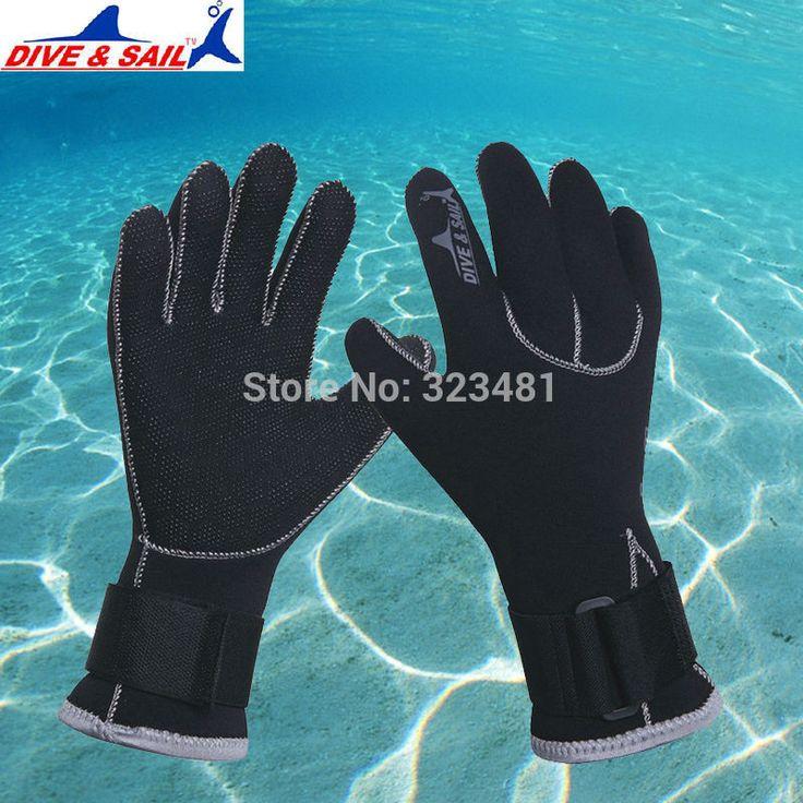 3mm Neoprene Diving Gloves Anti-slip Winter Warm Swimming Skiing Snorkeling
