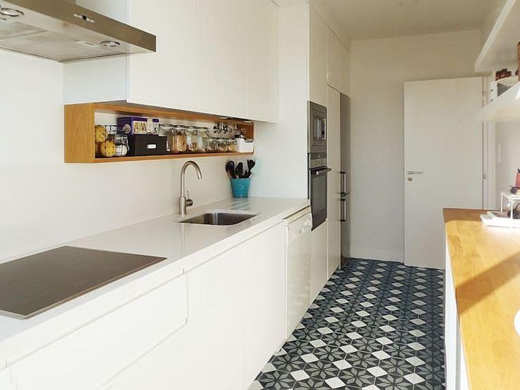 19 Ideen für schmale Küchen   homify   Schmale küche ...