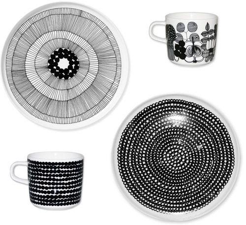 Marimekko Siirtolapuutarha & Räsymatto dinnerware
