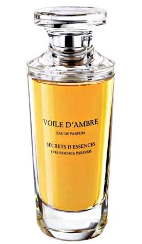 Voile d'Ambre by Yves Rocher is a balsamic, warm and spicy Oriental Woody fragrance with petitgrain, cardamom, mandarin orange and myrtle in the top. Opopanax, incense and myrrh in the middle. Patchouli, sandalwood and vanilla in the base. - Fragrantica