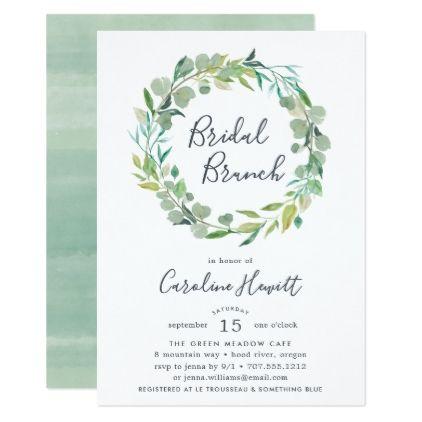 Eucalyptus Wreath Bridal Brunch Invitation - bridal shower gifts ideas wedding bride