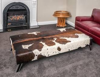 May 13, 2016 - Large Cowhide Ottoman | Gorgeous Creatures Custom Leather Ottomans