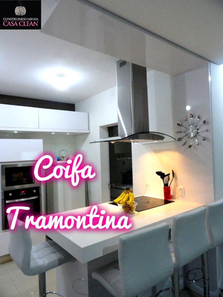 Construindo Minha Casa Clean: Coifa de Ilha Tramontina - Vetro Isla 90!