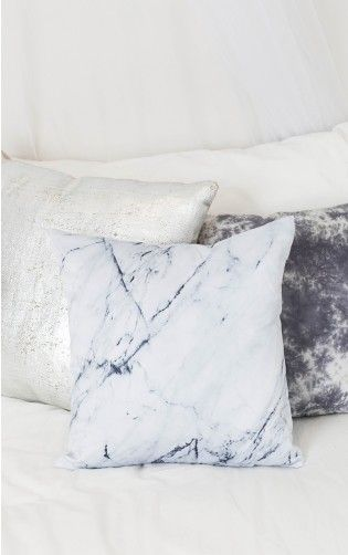 Moonlight Cushion Cover in black and white marble
