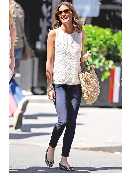 .Fashion, Weekend Outfit, Lace Tops, Skinny Jeans, Street Style, Summer Bags, Olivia Palermo, Summer Chic, Spring Outfit