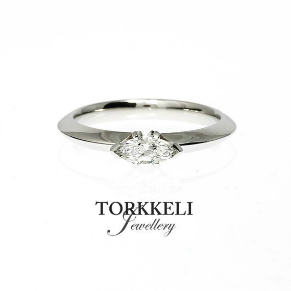 10% SALE Size 5 0.26ct Marquise cut diamond by TorkkeliJewellery