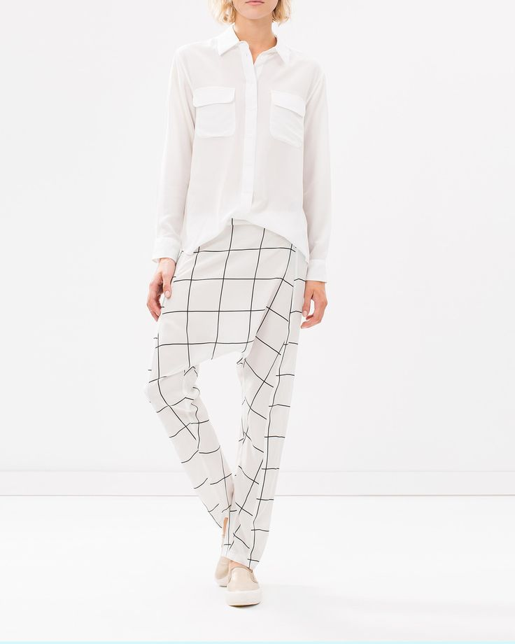 Check Silk Pants by Assembly Online | THE ICONIC | Australia