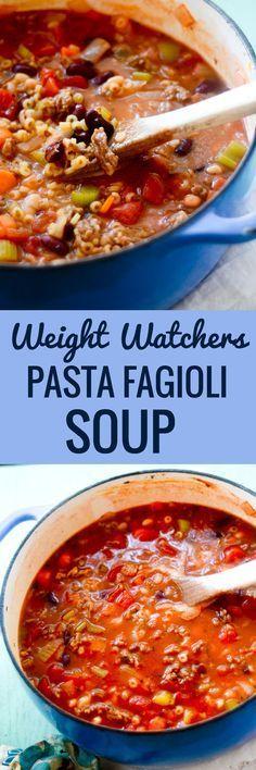 Weight Watchers Pasta Fagioli Soup - Recipe Diaries