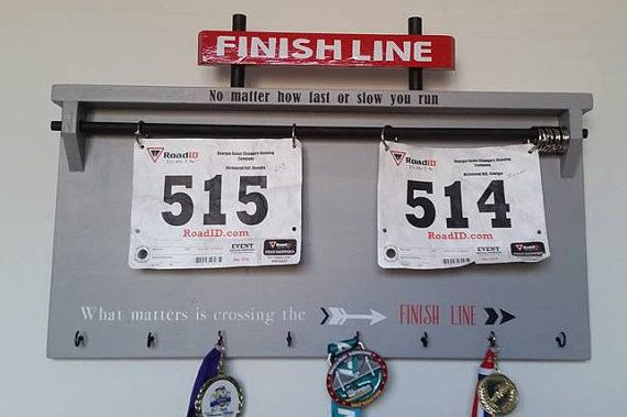 Runners Bib/ Medal Holder  Finish Line5K 10K by BARRETOMART
