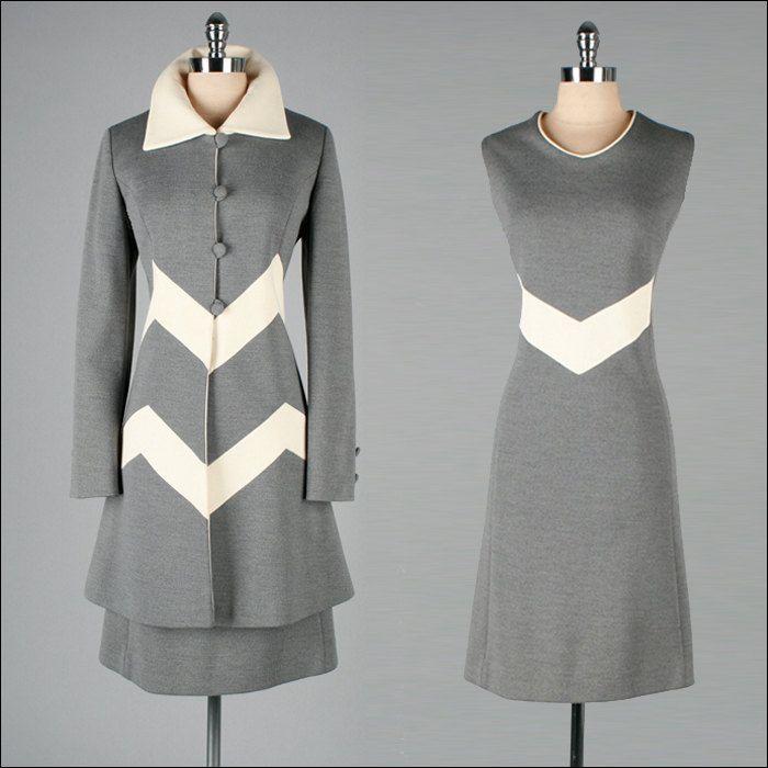 Knit Dress and Coat, ca. 1960s