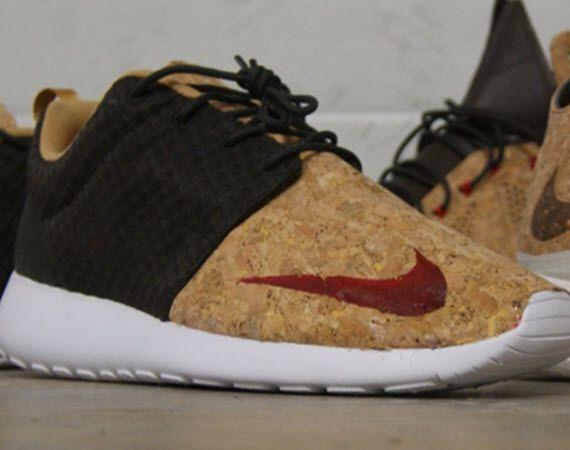 "Nike Roshe Run FB – ""Cork""   By AMAC Customs"