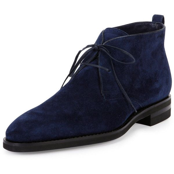 Bally Scarim Suede Lace-Up Boot ($845) ❤ liked on Polyvore featuring men's…