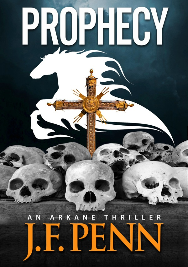 Prophecy, the 2nd ARKANE novel.  The prophecy in Revelation declares that a quarter of the world must die and now a shadowy organization has the ability to fulfil these words.     From the catacombs of Paris to the skeletal ossuaries of Sicily and the Czech Republic, Morgan Sierra and Jake Timber must find the Devil's Bible and stop the curse from being released into the world before 1 in 4 are destroyed in the coming holocaust.