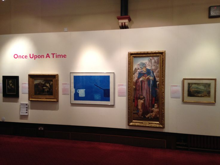 'Once Upon A Time', the current exhibition at Astley Cheetham Art Gallery, on until 2nd April 2016.