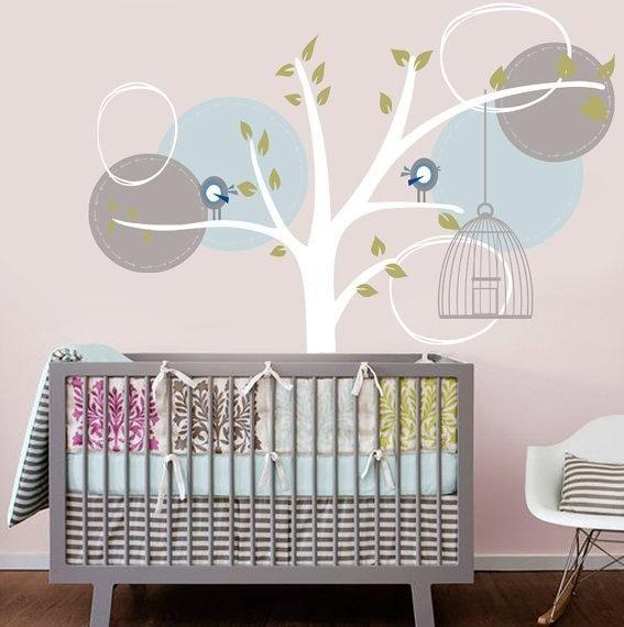 Babys crib tree of life nursery pregnancy pinterest