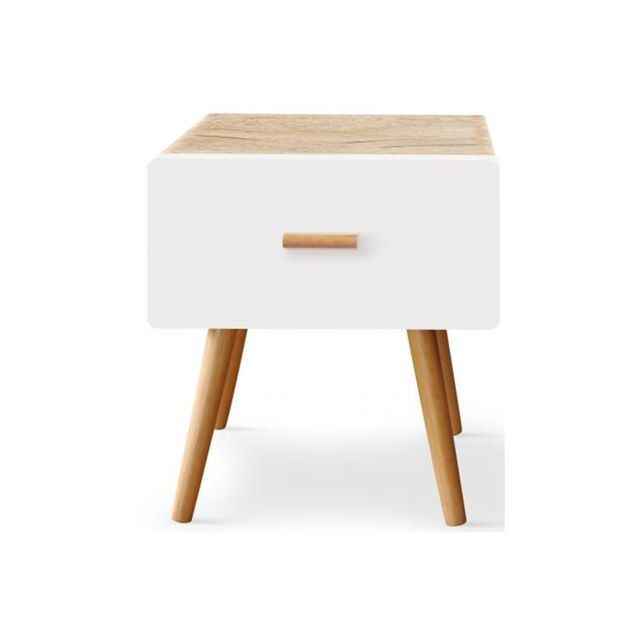 lovely table de chevet bois blanc #12: table de chevet bois clair