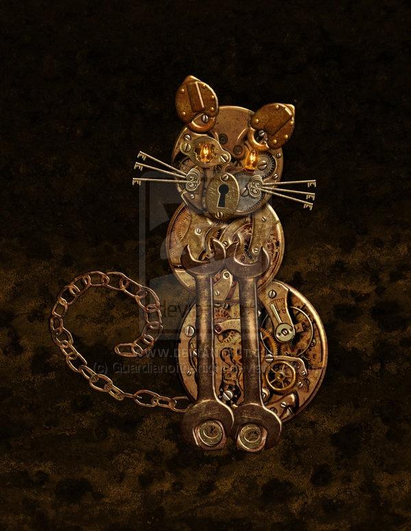 Steampunk Kitty!  Cat