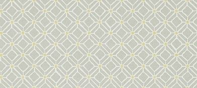 Fretwork Silver Linden (213722) - Sanderson Wallpapers - A pretty geometric tile design based on a lino-cut, with a stippling effect. Shown in the grey with contrasting lime green highlights. Paste the wall. Please request sample for true colour match. Pattern repeat 5.8cm