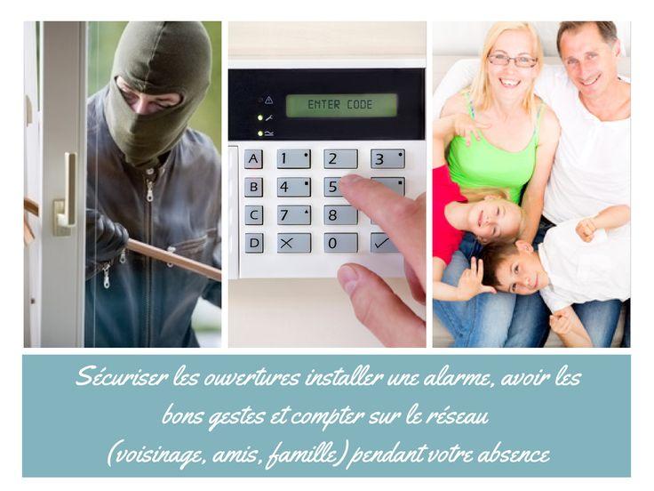 Se protéger des cambriolages | http://www.habitatpresto.com/interieur/alarme-domotique-maison/478-vacances-cambriolages-solutions #alarme #cambriolage #securitemaison