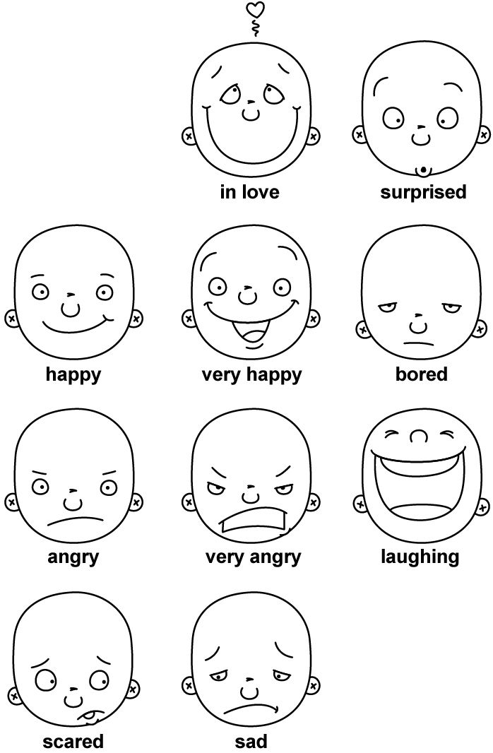 how to draw fun expressions for kids