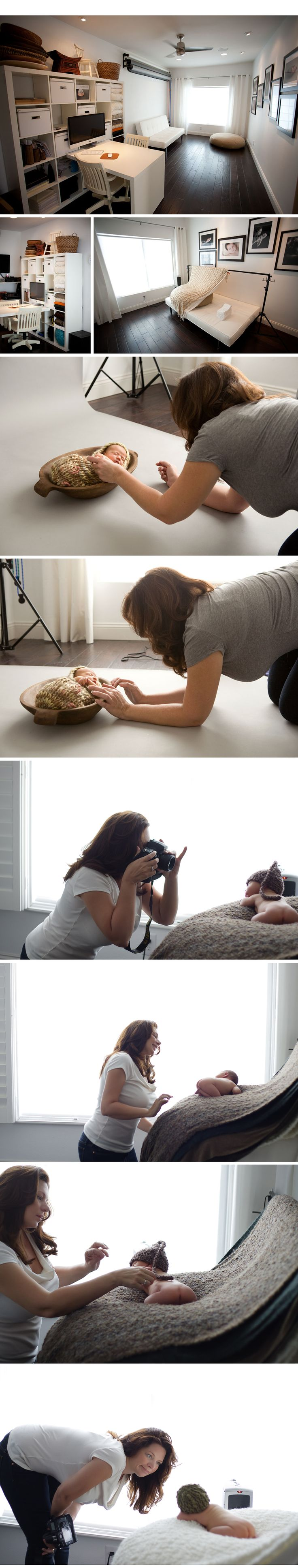 Photography natural light studio for newborn photography