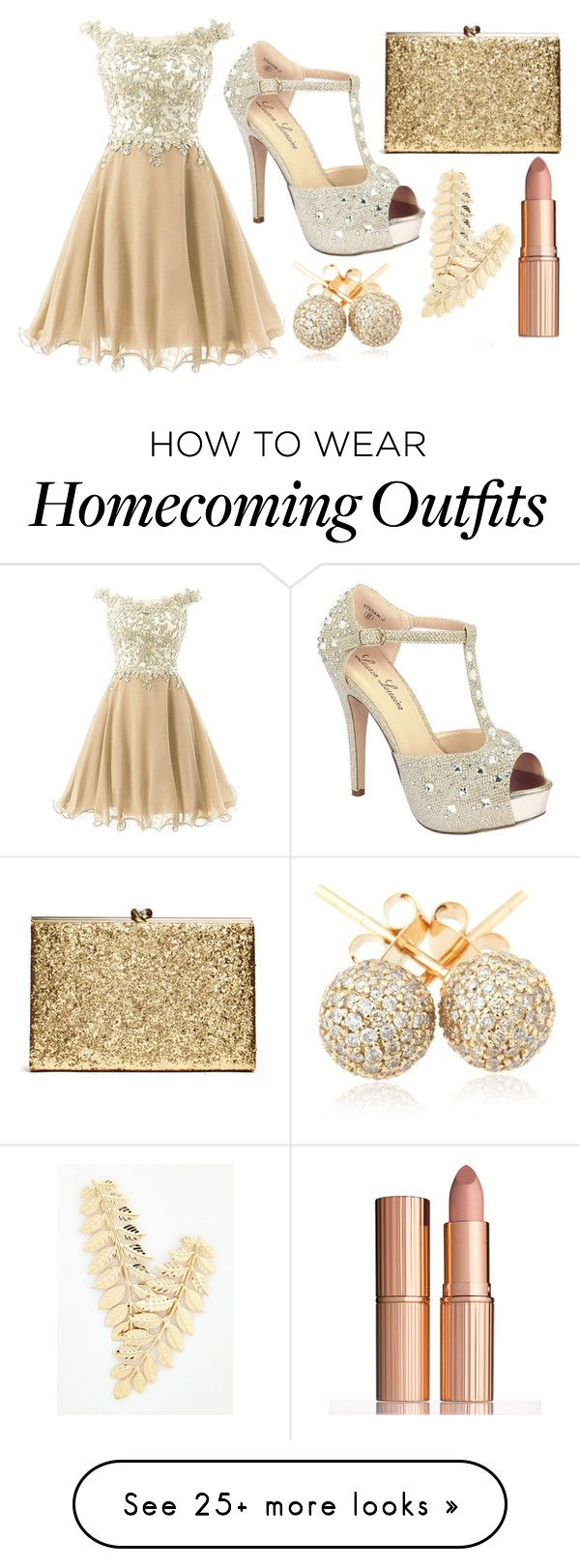 """Prom"" by brooky338 on Polyvore featuring Lauren Lorraine, Loushelou and Charlotte Tilbury"