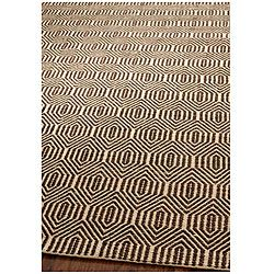 Handmade South Hampton Southwest Brown Rug 5 X