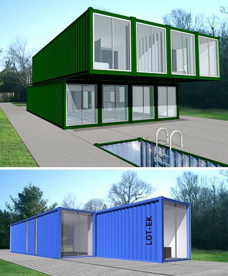 PREFAB FRIDAY: LOT-EK Container Home Kit (CHK) Lot-ek, shipping container  housing, prefab architecture, prefab housing, modular housing - Ga.