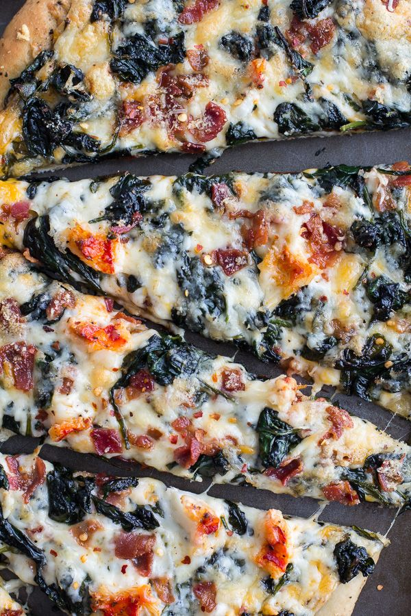 Brown Butter Lobster and Spinach Pizza with Bacon + Fontina   halfbakedharvest.com