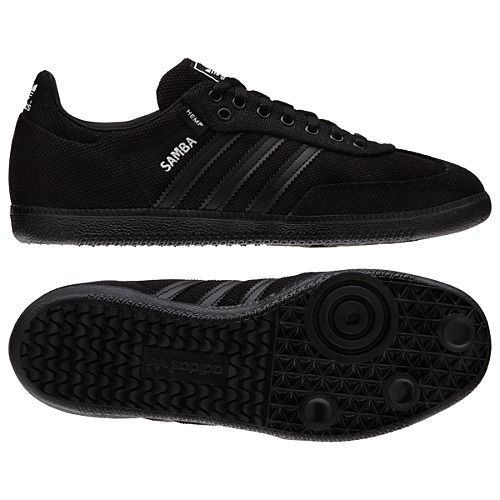 black adidas samba shoes